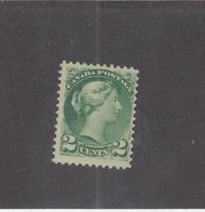 CANADA-MK4259-36-FVF-MNH-2cts-SMALL-QUEEN-GREEN-FEB-1872-CAT-VALUE-255