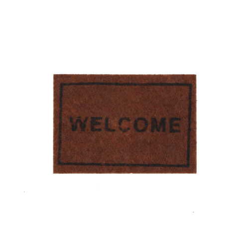 Dollhouse Miniature Welcome floor mat Carpet Rug dollhouse accessories Cl