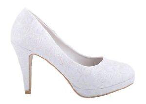 Amazing Image Is Loading Off White Lace Ivory Glitter Shiny Wedding Shoes