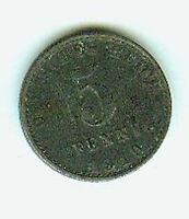 Deutsches Reich 5 Pfennig Eisen 1919 A