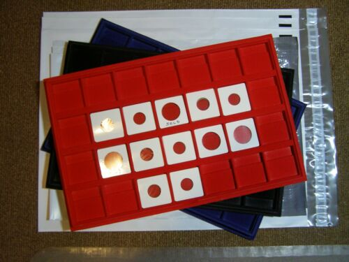 HORIZONTAL 6 28 SLOTS FOR 2X2 FREE POLY MAILERS INCLUDED COIN DISPLAY TRAY