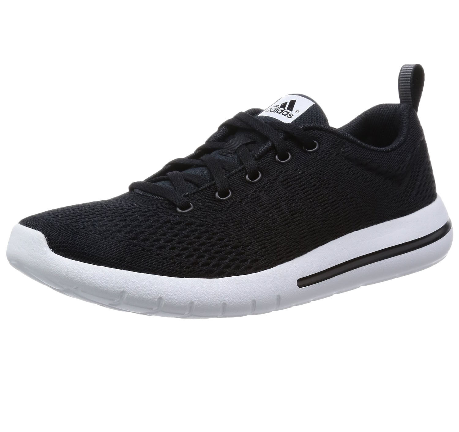adidas New  Hommes  Textile Element Urban Run Trainers Textile  Noir blanc Running Baskets f8a9e8