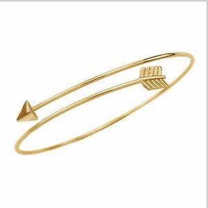 Women-039-s-Gold-Arrow-Cuff-Style-Arm-Bracelet-Armlet-Vintange-Boho-Bangle