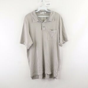 NSF-Clothing-Mens-XL-Pocket-Short-Sleeve-Golfing-Golf-Polo-Shirt-Gray-Cotton