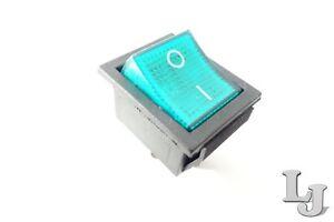 Wippschalter Netzschalter Grün 230V//15A 1-Polig Geräte Schalter EIN//AUS
