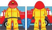 "Kreative Kids 100% Cotton Fireman Hooded Poncho Towel 24"" x 48"""
