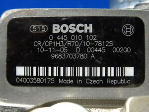 Neuf Bosch 0445010102 Pompe D'Injection F.Citroen Fiat Ford Peugeot 1.6 HDI / D/