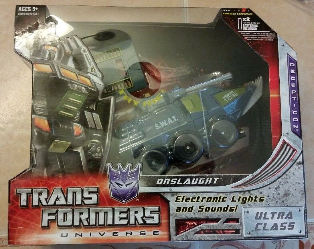 Transformers Universe ONSLAUGHT UNOPENED   SEALED Ultra Class Batteries Work