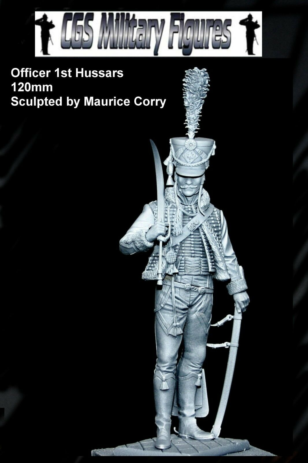CGS Officer French Hussars 120mm Unpainted kit CORRY
