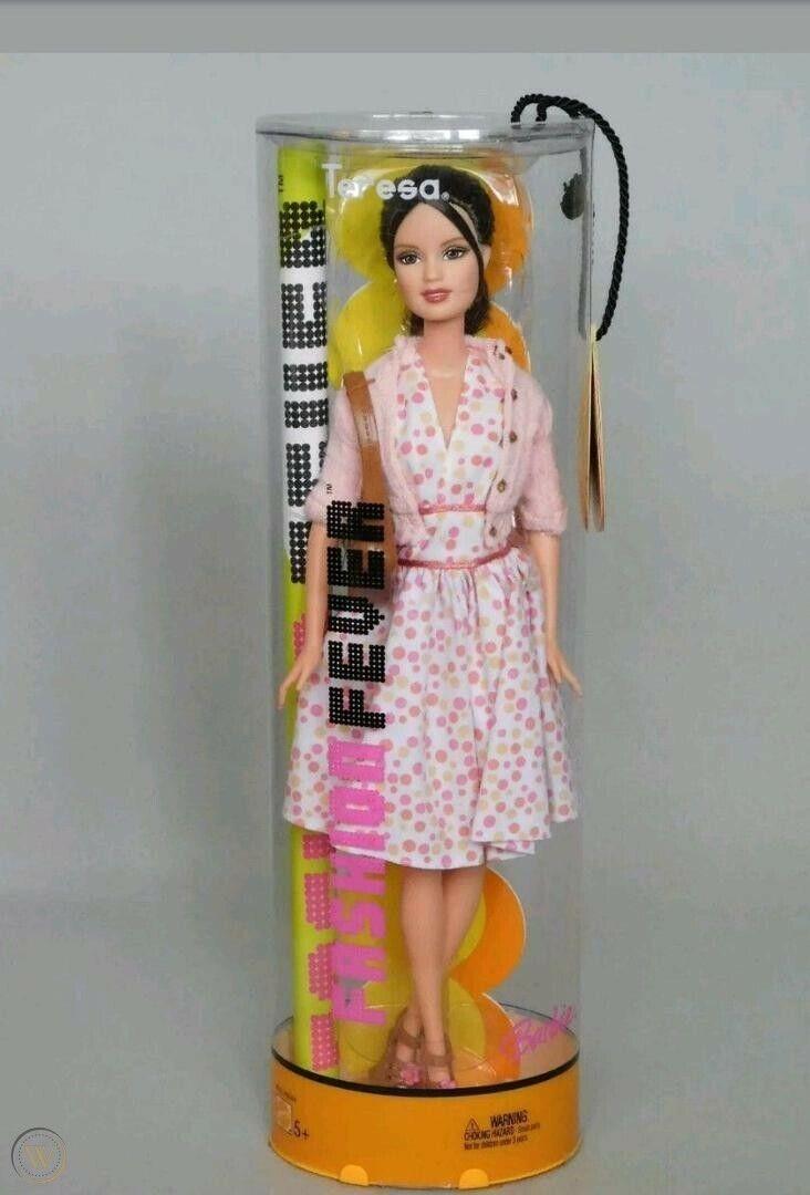 FASHION FEVER Teresa 2005 Barbie Polka Dot Soho 50s Day Dress H0873