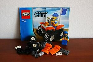Lego Town City Coast Guard Set 7736-1 Coast Guard Quad ...