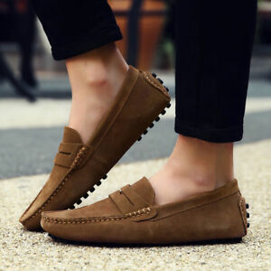 0fff514e196 Fashion Men s Casual Driving Loafers Suede Leather Moccasins Slip On ...
