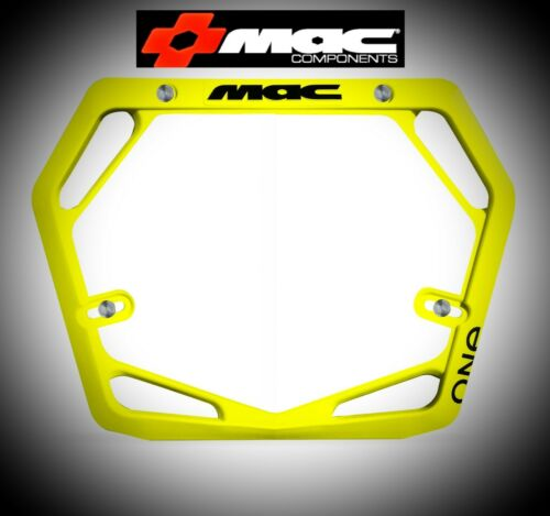 Mac One BMX Number Plate Pro Yellow