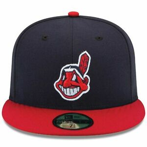 e6c3805f Details about Mens Cleveland Indians New Era Navy/Red Authentic 59FIFTY  Fitted Hat Low Profile