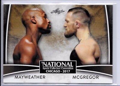 2017 Leaf #VIP-02 Mayweather vs McGregor GOLD VARIATION EXCLUSIVE National Promo
