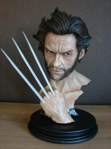 27cm high, 12, unpainted wolverine bust model kit, polystone