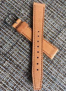 Flat-type-Genuine-Pigskin-16mm-vintage-watch-band-sliding-keeper-1940s-50s-NOS