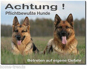 Türschilder Motiviert Schäferhunde-hund-aluminium-schild-0,5-3mm Dick-türschild-warnschild-hundeschild Exzellente QualitäT