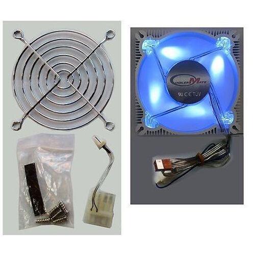 New CMT-ALF-9S 90MM Desktop PC CASING Aluminium Frame Fan Four  BLUE Bright LED