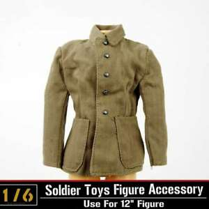 "1//6 Scale WW II US Army Canvas jacket Model for 12/"" Action Figure"