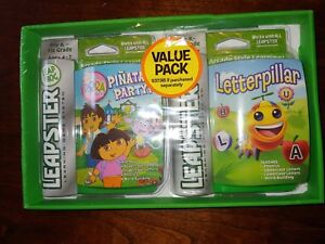 Leap-Frog-Leapster-Learning-Game-Lot-Dora-Pinata-Party-amp-Letterpilar-Value-Pack