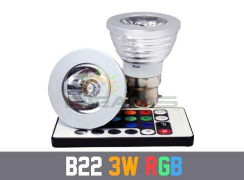E27//GU10//B22//MR16//E14 3W 16 COLOR CHANGING DIMMABLE RGB LED SPOT LIGHT BULB LAMP
