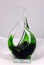 """Hand Blown Murano Glass Sculpture """"Contemporary"""" (Fluid Design) 10.25"""" h x 5"""" w"""