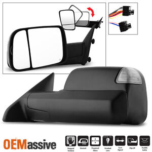 Fit 2009-2012 Dodge Ram Pickup Power Heated LED Signal Driver Left Towing Mirror
