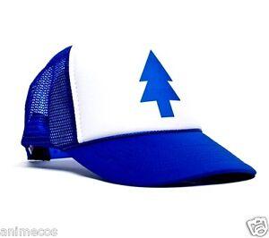 Dipper Gravity Falls Cartoon New Curved Bill  BLUE PINE TREE  Hat ... 24b88252700
