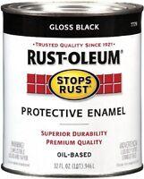 Rustoleum 7779504 Protective Enamel Paint Stops Rust, 32ounce, Gloss Black, on sale