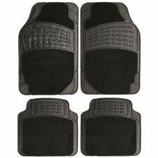 HONDA ACCORD 2004-2008 MANUAL HEAVY DUTYBLACK CARPET & RUBBER CAR MAT SET NON-SL