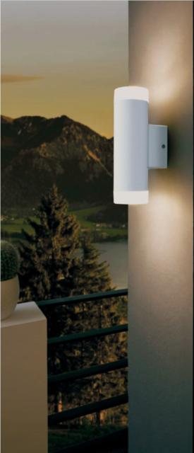 LED Wandleuchte Aussenlampe Up /& Down Eglo Wandlampe Weiß 13708