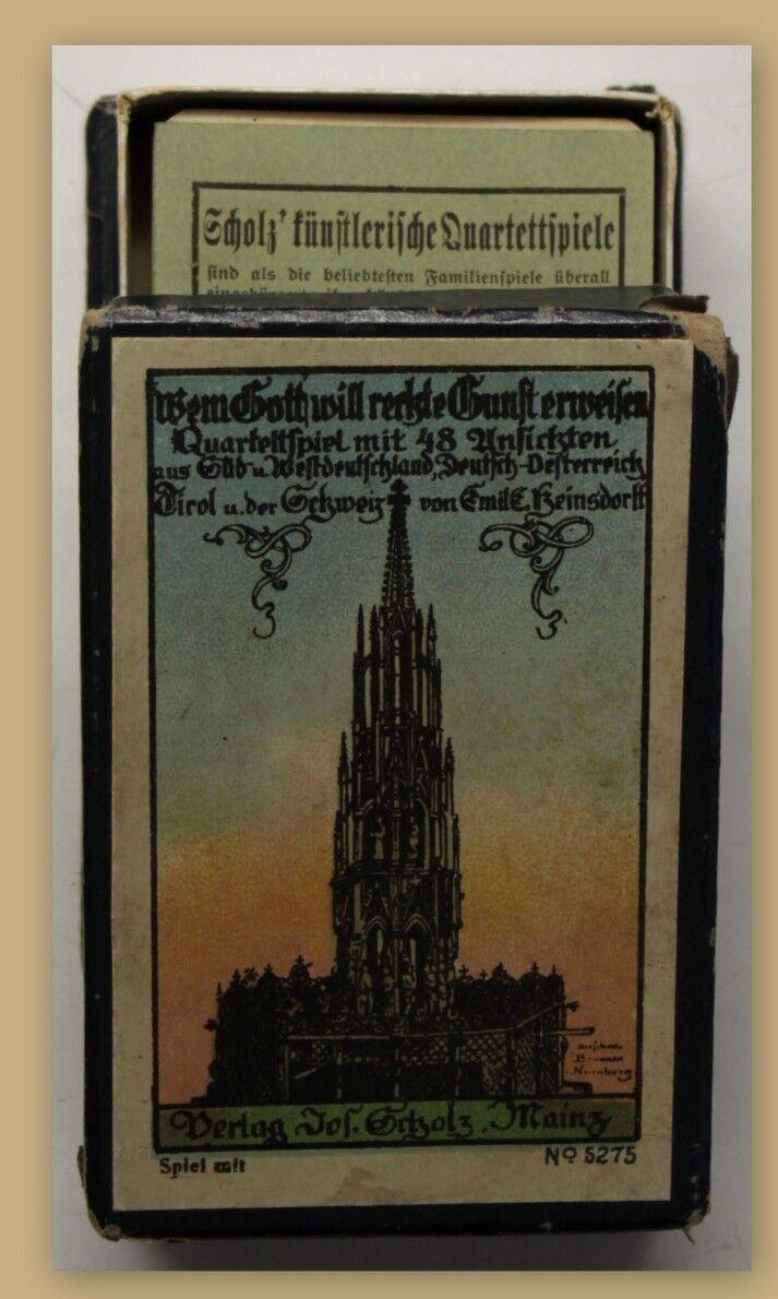 Scholz Quartett Wem Gott will rechte Gunst erweisen um 1910 komplett sf