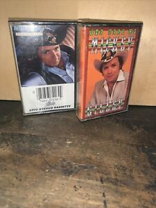 """MICKEY GILLEY Cassette Tapes, """"Best Of  & You Don't Know Me"""" Used."""