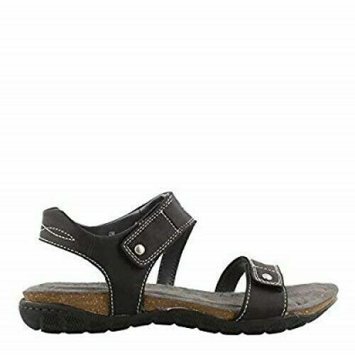 Khombu Women's Ava Sport Comfort Footbed Outdoor Black Sandals