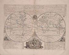 Antique map, Mappe monde .. des Compagnies d'Orient et d'Occident