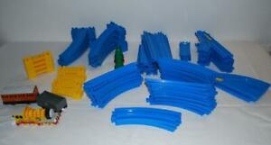 Thomas-Train-Tomy-Blue-Track-Risers-Curves-Switch-Molly-Clarabel-Lot-of-88