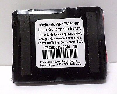 Sanyo 178030-001 Medtronic Li-ion Rechargeable Battery 7.4V 1.7Ah 13Wh 1 Unit