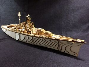 Kit de puzzle / cuir modèle 3d cuirassé cuirassé Ww2 Bismarck