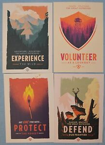 Image Is Loading FIREWATCH Olly Moss EXPERIENCE Defend PROTECT MINI ART