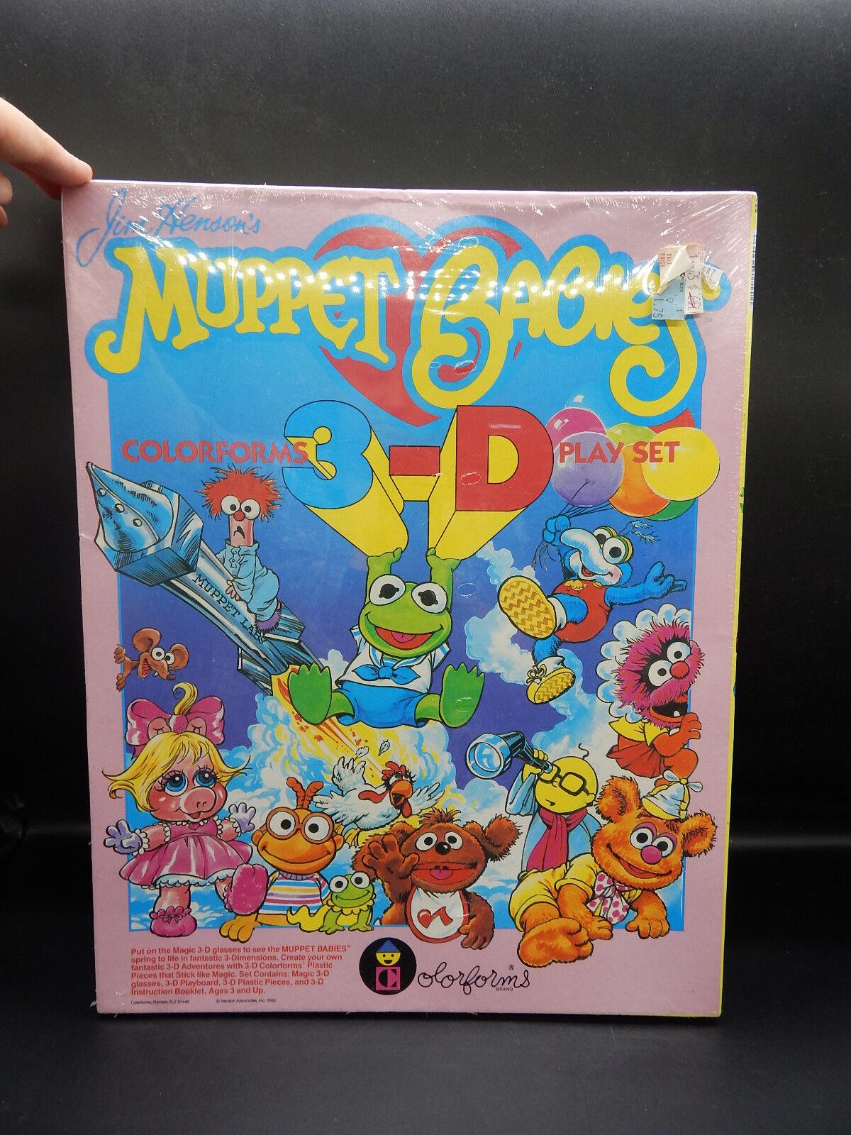 1985 vintage MUPPET BABIES Farbeforms 3-D play Set unused MIB Jim Henson Muppets