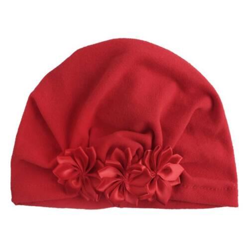 Newborn Baby Girl Floral Turban Beanie Hat Cap Toddler Flower Head Wrap Headband