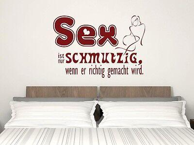 Wandtattoo Aufkleber Wandspruch Deko Sex Ist Nur Schmutzig Fur Schlafzimmer Ebay
