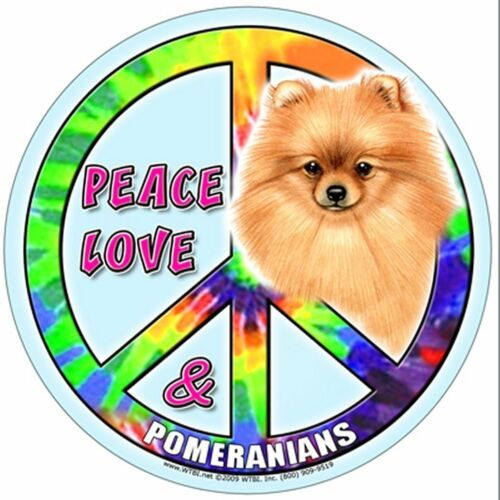 "Hippie Dog Pomeranian 5/"" Round Waterproof Magnet for Cars Refrigerators /& more"