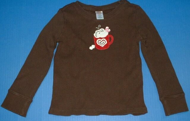 GYMBOREE MERRY /& BRIGHT PINK w// HEART THERMAL L//S TEE 4 5 6 7 8 9 10 12 NWT