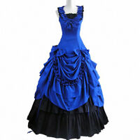 Victorian Prom Ball Gown Fancy Dress Southern Belle Reenactment Costumes Party