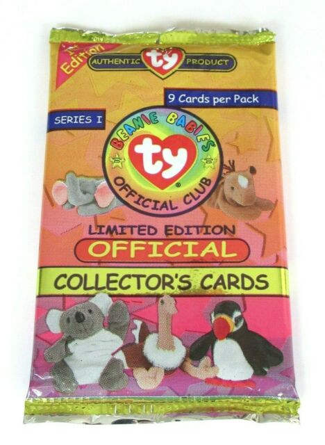 TY Beanie Babies Official Collectors Cards 1st Edition Series 1 Sealed Pack