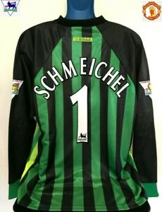 13826ef1c34 Image is loading Manchester-United-SCHMEICHEL-97-98-Goalkeeper-Football- Shirt-