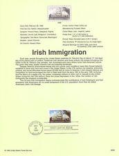 #9908 33c Irish Immigration #3286 - Souvenir Page