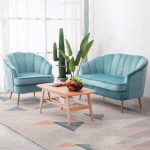 Outstanding Details About Velvet Cocktail Shell Chair 2 Seater Sofa Couch Settee Armchair Small Sofa Set Squirreltailoven Fun Painted Chair Ideas Images Squirreltailovenorg